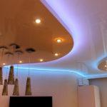 Натяжные потолки с подсветкой в Кишинёве