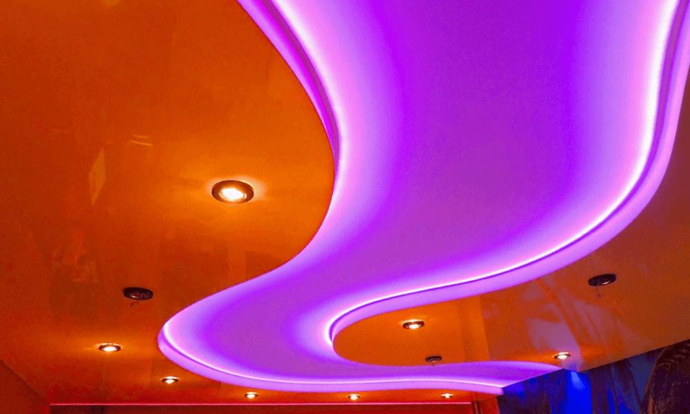 Светопрозрачные натяжные потолки 9