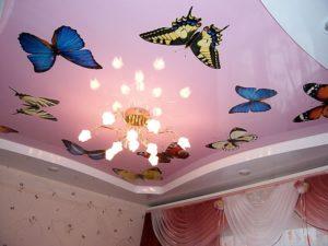 Двухуровневый потолок в детскую