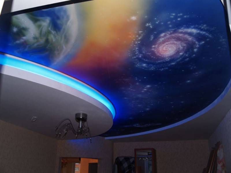 Звёздное небо потолки в зал