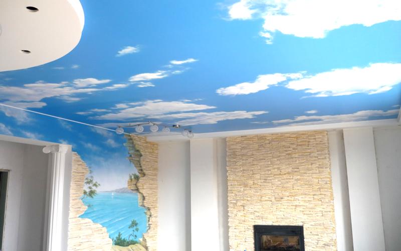 Светопрозрачные натяжные потолки 3