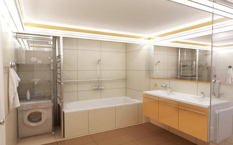 натяжные потолки ванна