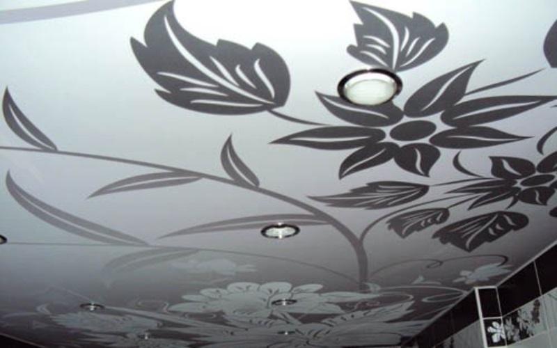 тканевые натяжные потолки 8