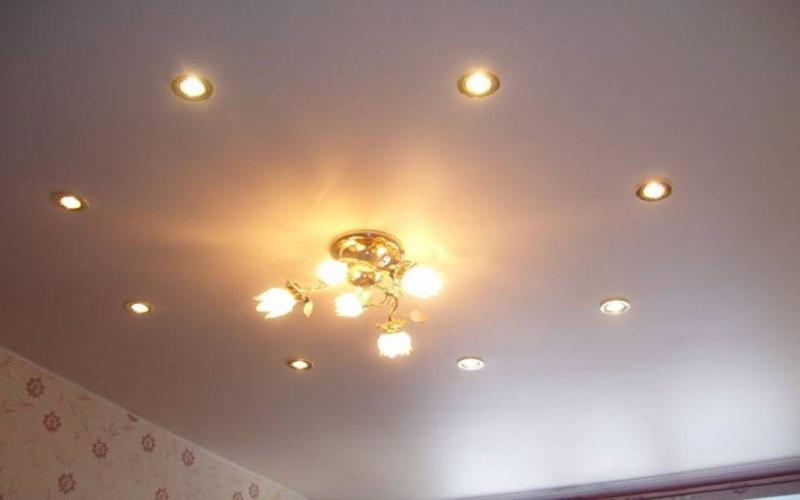 тканевые натяжные потолки 9