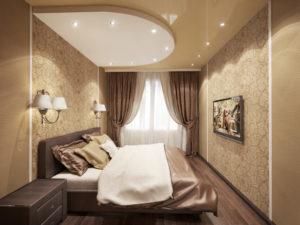Двухуровневые потолки для спальни Кишинев