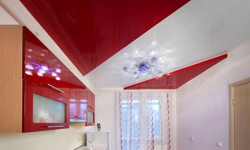 Двухуровневые-натяжные-потолки-ПВХ